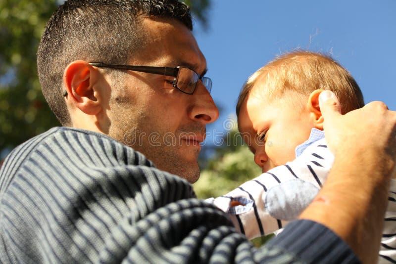 Отец и сын стоковые изображения rf