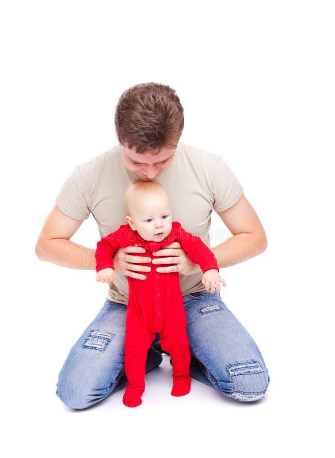 отец младенца счастливый стоковое фото rf