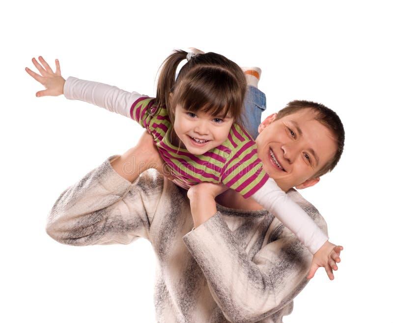 отец ребенка счастливый его стоковые фото