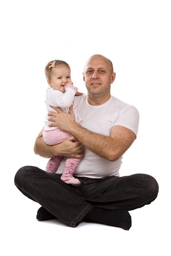 отец семьи дочи счастливый немногая стоковые фотографии rf