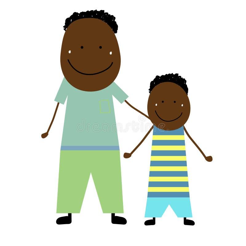 Отец с сынком иллюстрация штока