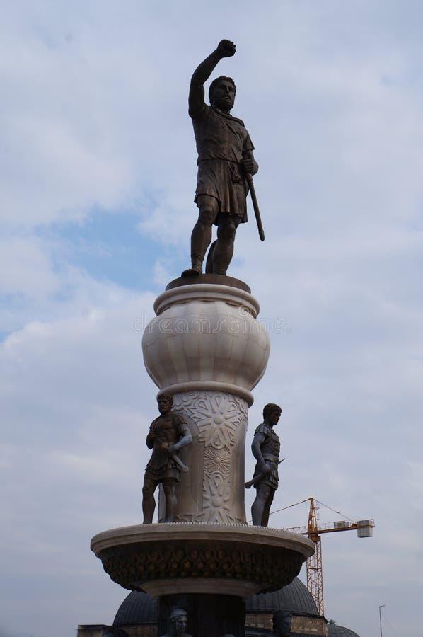 Отец Филиппа II Macedon скульптуры Александра в скопье стоковое фото rf