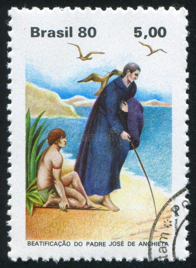 Отец Anchieta напечатанное Бразилией стоковое изображение rf