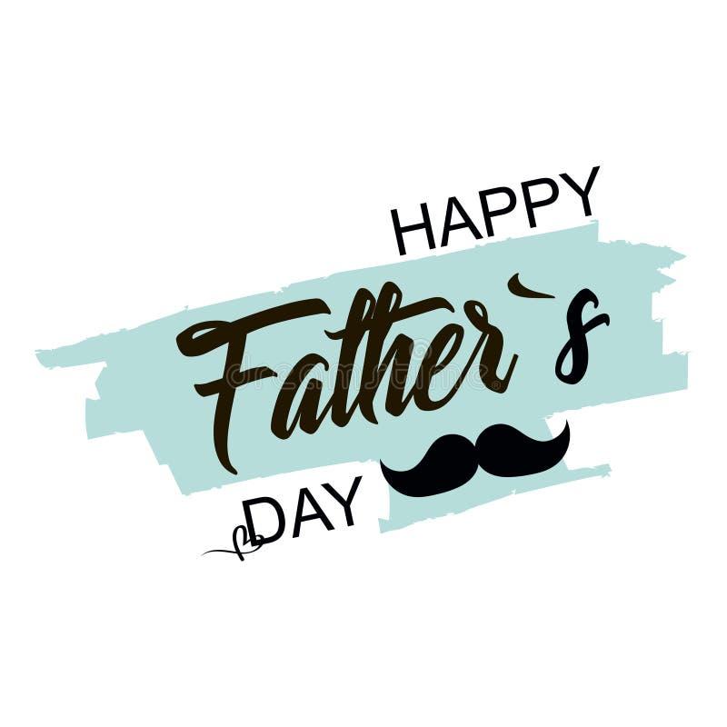отец s дня День торжества день будет отцом счастливого Дизайн литерности также вектор иллюстрации притяжки corel бесплатная иллюстрация