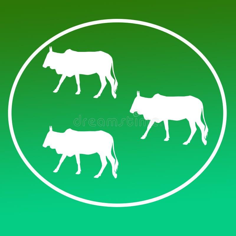 Отечественные скотины устрашают графики значка предпосылки логотипа бесплатная иллюстрация