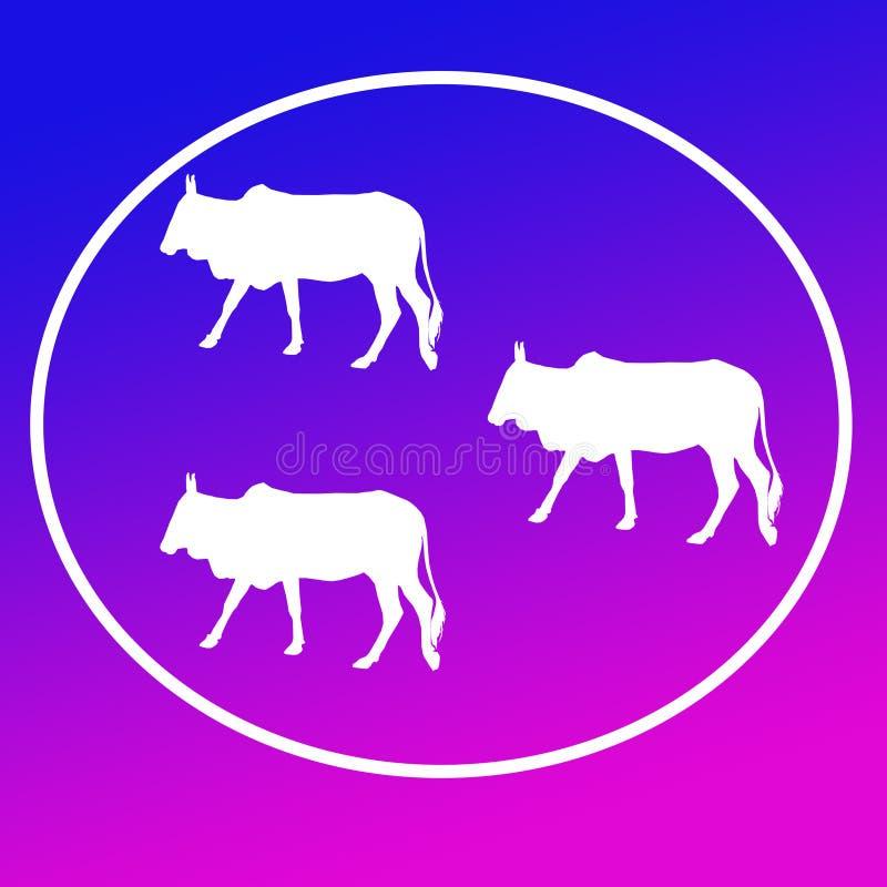 Отечественные скотины устрашают графики значка предпосылки логотипа иллюстрация вектора