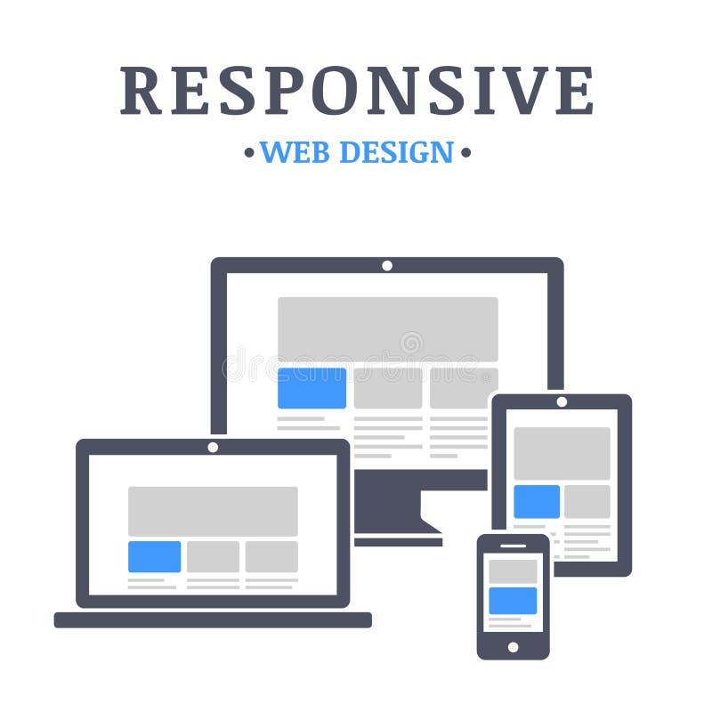 Отзывчивый веб-дизайн бесплатная иллюстрация