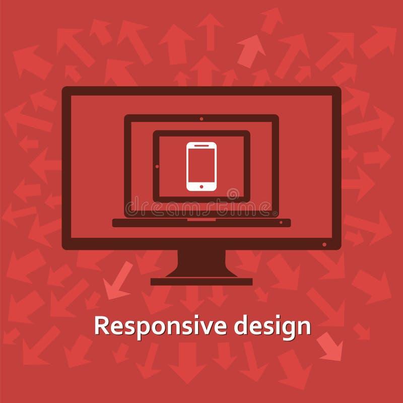 Отзывчивый веб-дизайн иллюстрация вектора