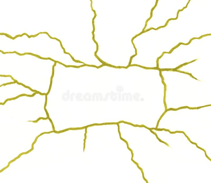 Отказы золота на белом шаблоне знамени предпосылки - концепции kintsugi, золотых crinkles, сломленной текстуре гончарни бесплатная иллюстрация