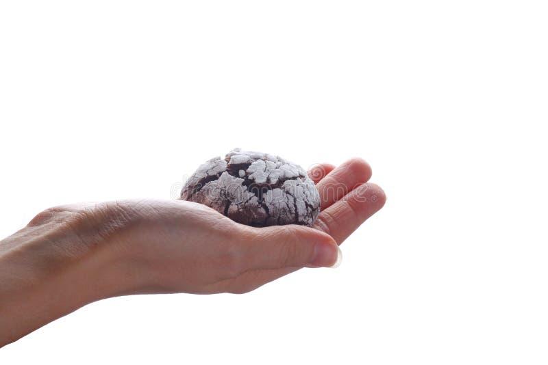 Отказы шоколада печений в наличии изолированные на белизне стоковые изображения