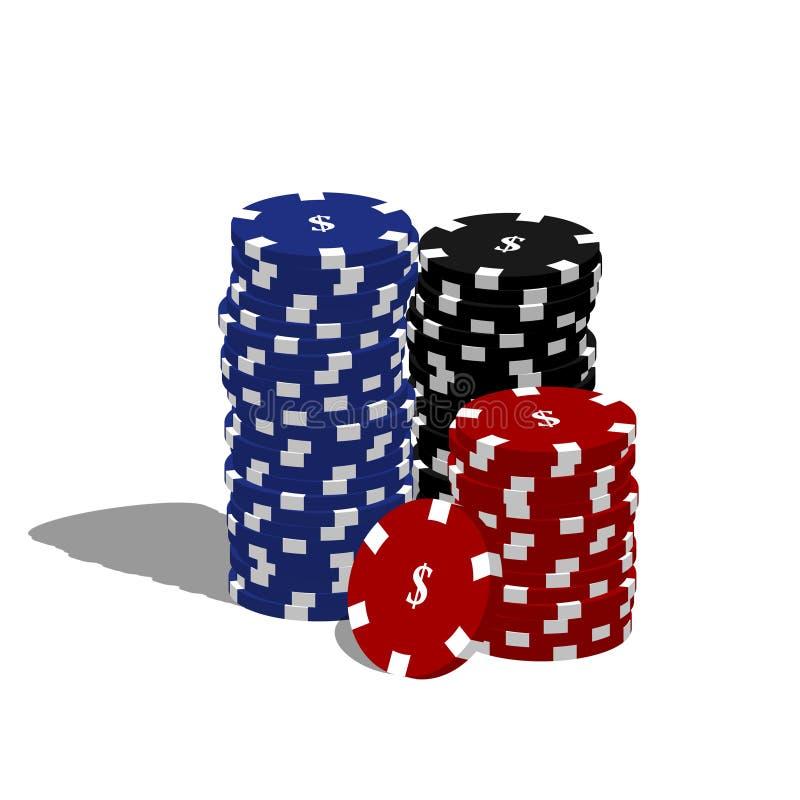 откалывает покер иллюстрация штока