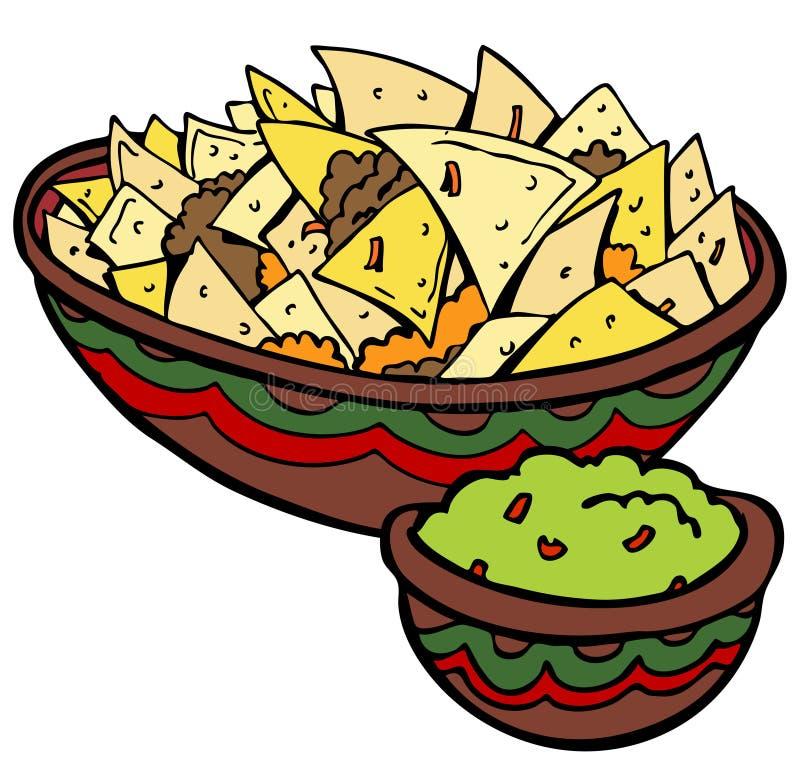 откалывает tortilla nachos иллюстрация вектора