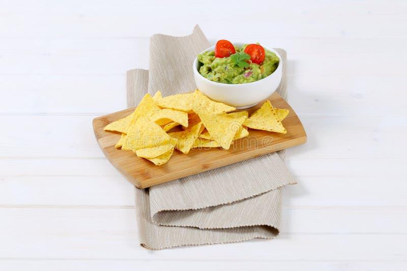 откалывает tortilla guacamole стоковые фотографии rf