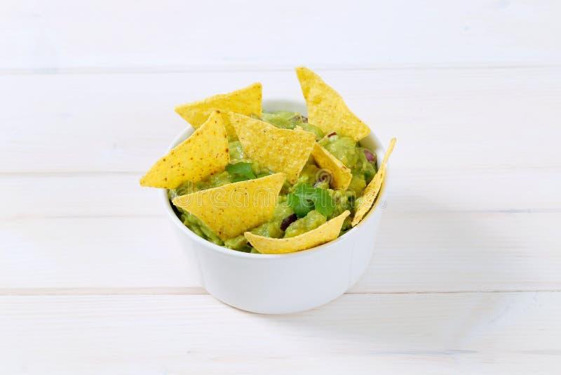 откалывает tortilla guacamole стоковые изображения rf