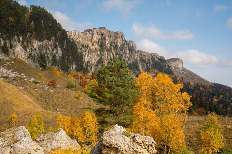 Отключение в октябре к горам кавказского запаса стоковое фото