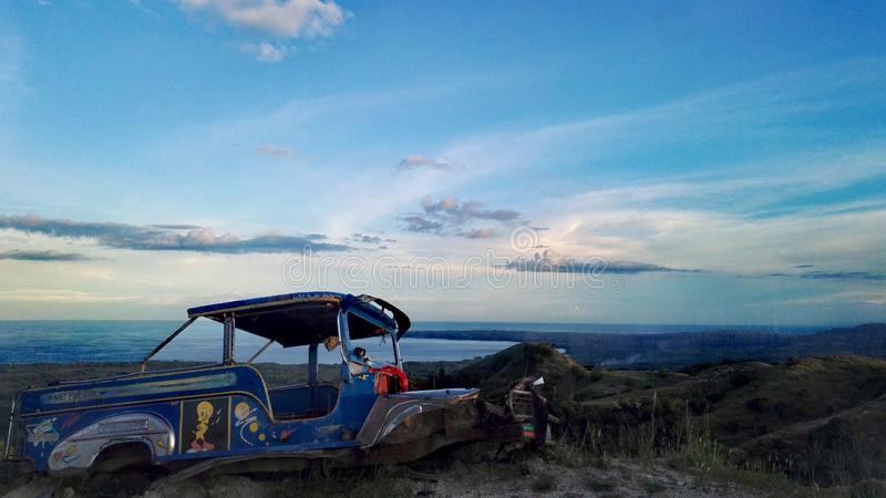 Отключение горы Siquijor стоковые изображения