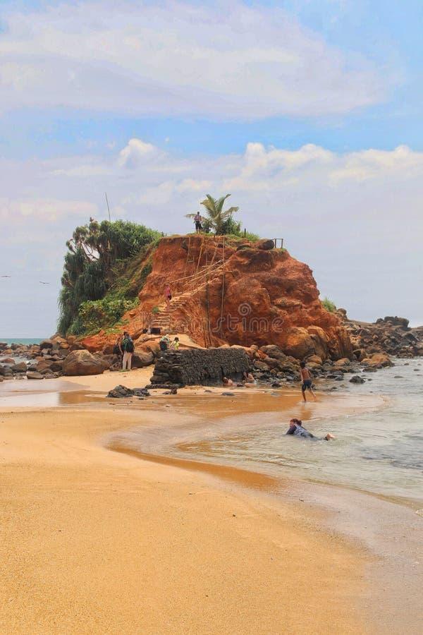 Отключение Шри-Ланка Азии праздника пляжа стоковое фото