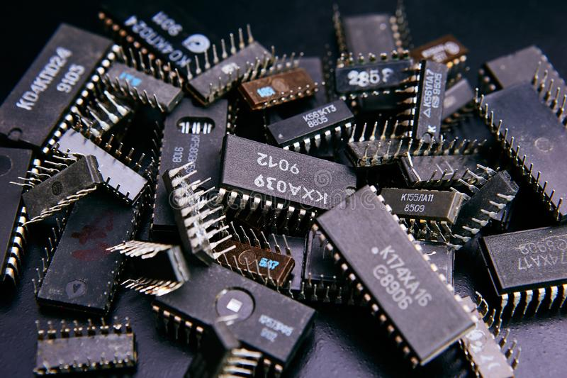 отколите электронное стоковые изображения rf