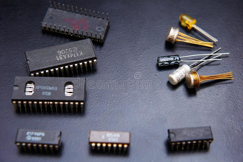 отколите электронное стоковое фото rf