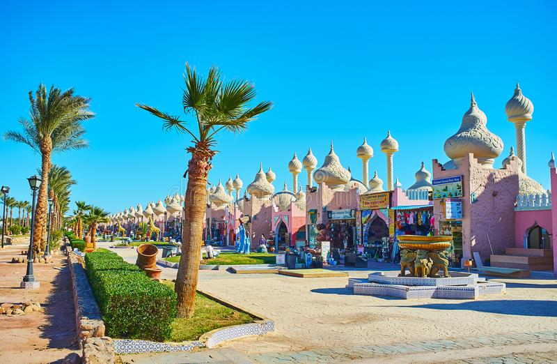 Откройте рынки Sharm El Sheikh, Египта стоковое фото rf