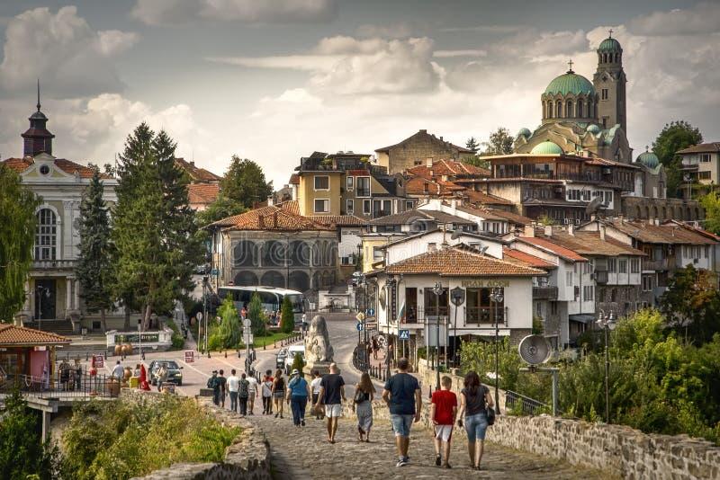 Откройте самый лучший Sightseeing в Veliko Tarnovo, Болгарии стоковые фотографии rf