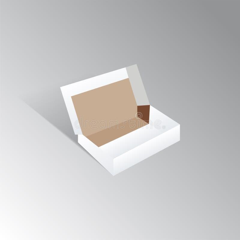Открытая белая коробка ботинка картона иллюстрация штока