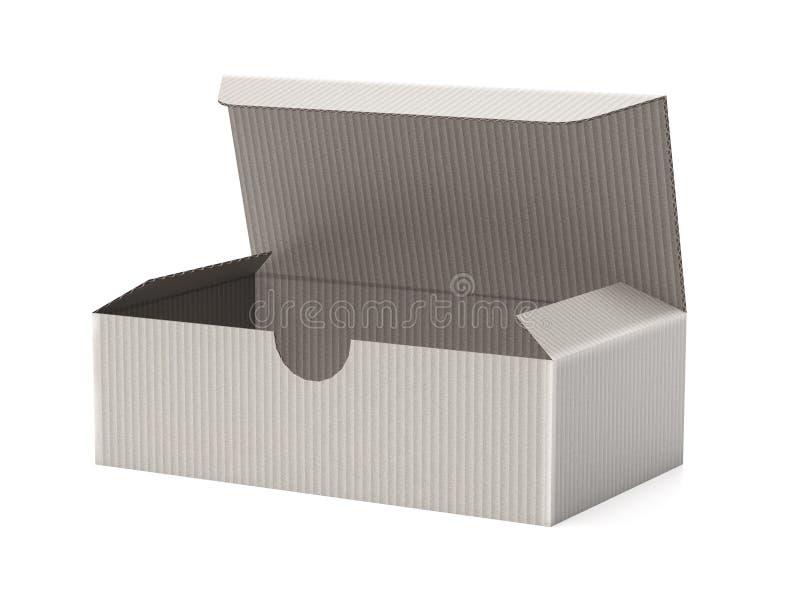 Открытая бумажная картонная коробка Пустая коробка ботинка E бесплатная иллюстрация