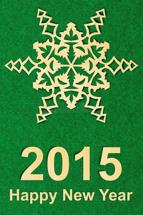 Открытка Нового Года текстурированная годом сбора винограда бумажная с бумагой стоковое изображение