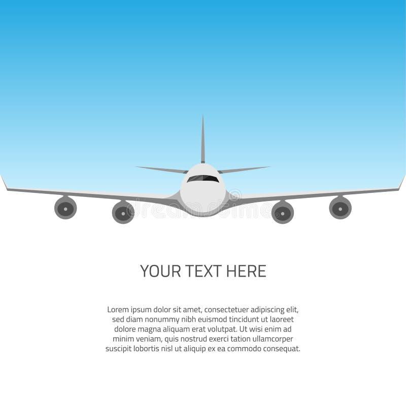 Открытка с самолетом бесплатная иллюстрация