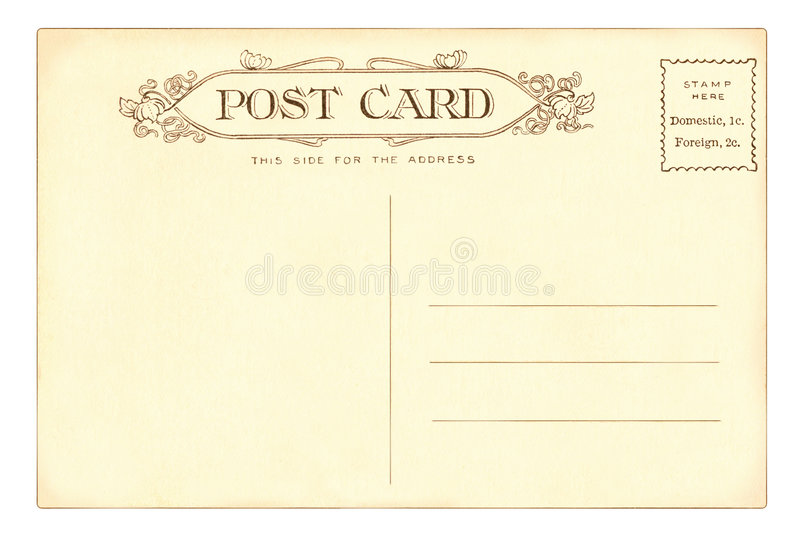 открытка 1903 стоковое изображение