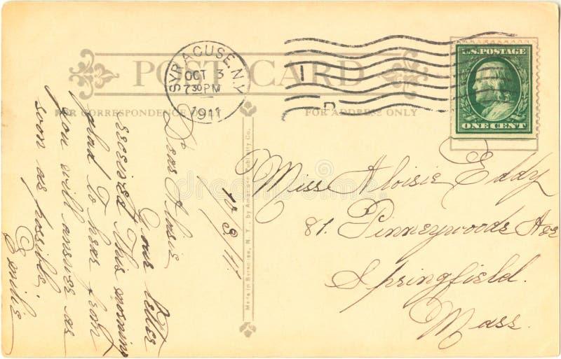 открытка 1911 стоковое изображение rf
