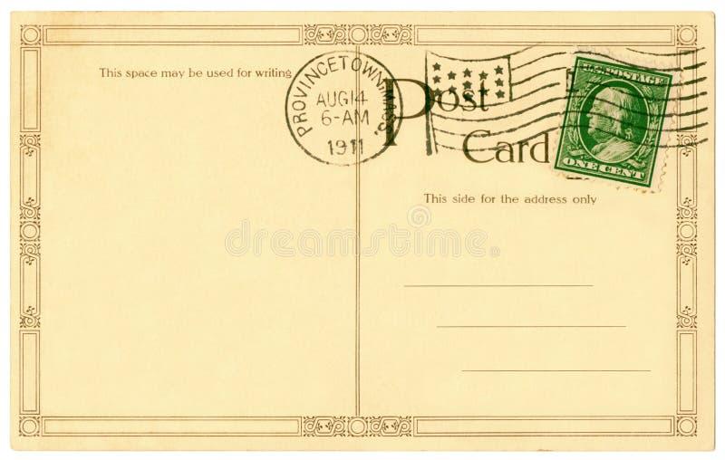 открытка 1911 стоковое изображение