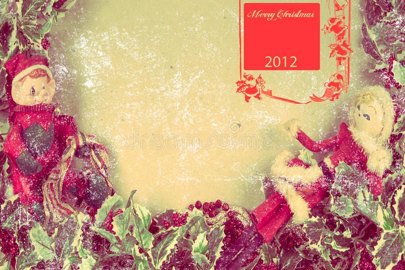 Открытка 2012 рождества стоковая фотография
