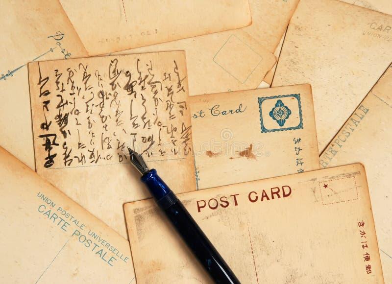 открытки авторучки стоковое фото