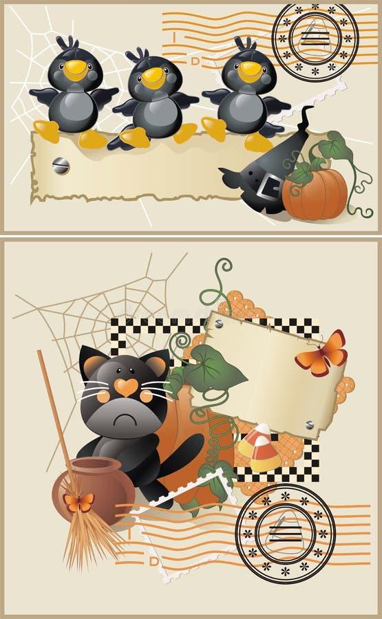 открытки halloween бесплатная иллюстрация