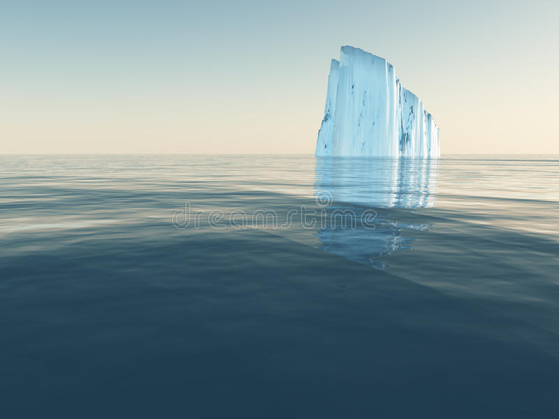 открытое море айсберга бесплатная иллюстрация