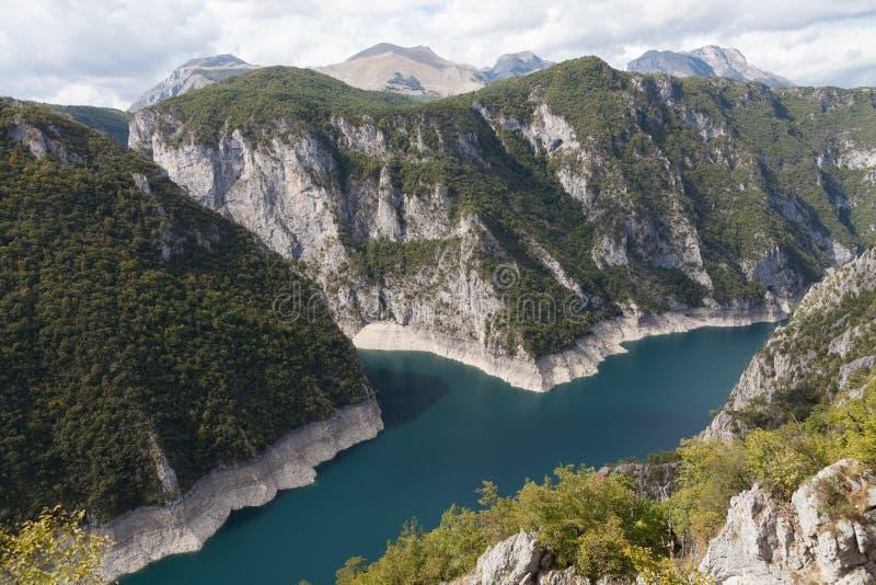 Открытое море озера Piva стоковая фотография