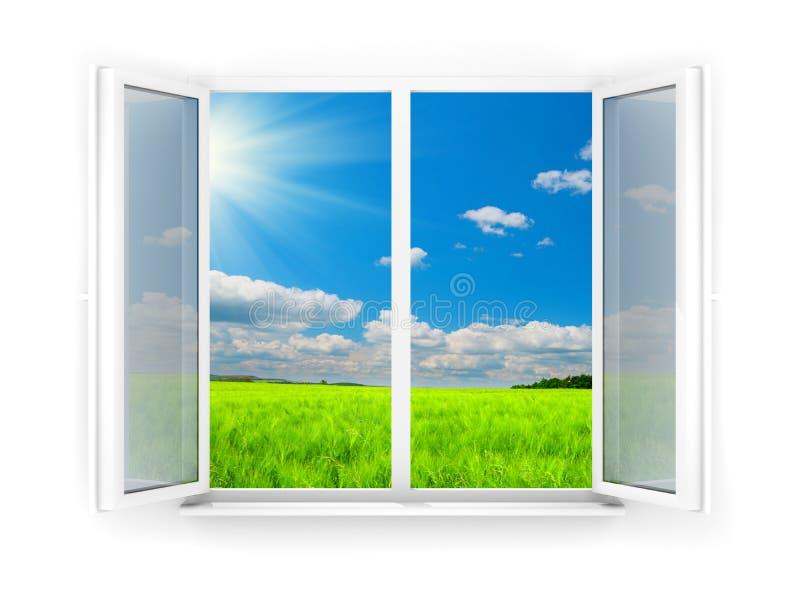 открытое окно иллюстрация штока