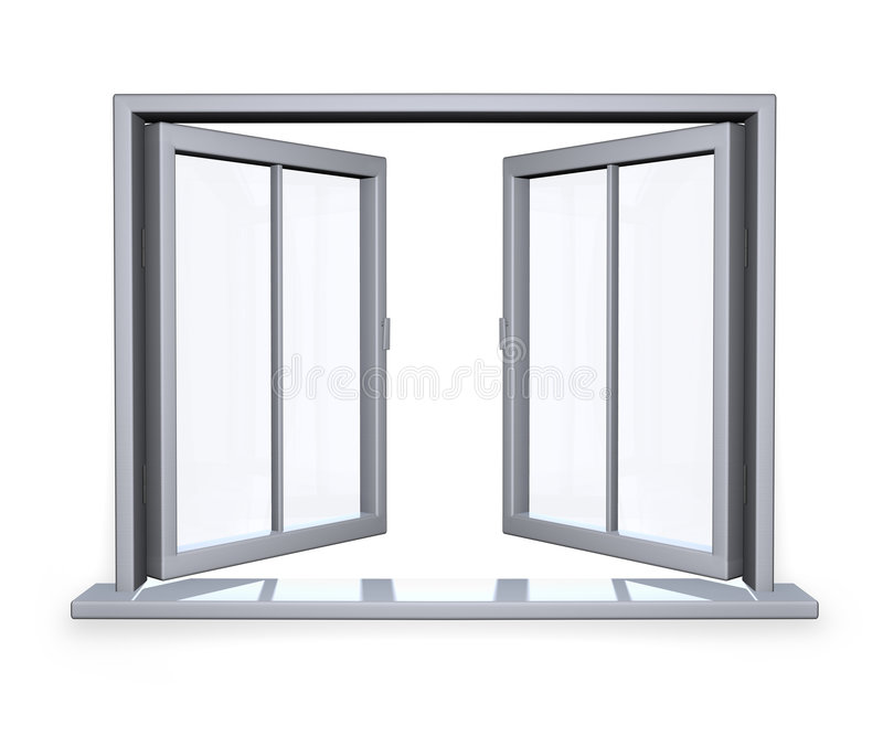 открытое окно иллюстрация вектора