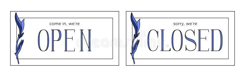 Открытые и закрытые векторы запаса плиты Минималистичный стиль бесплатная иллюстрация