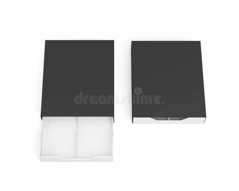 Открытые и закрытые коробки на белой предпосылке renderin 3D бесплатная иллюстрация
