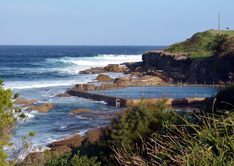 Открытый бассейн на пляже Malabar стоковые фото