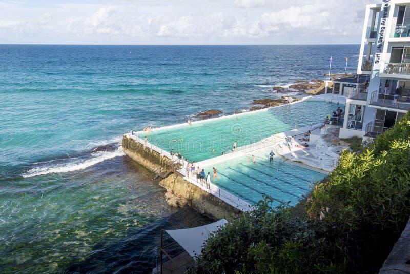 Открытый бассейн, пляж Bondi, Австралия стоковое изображение rf