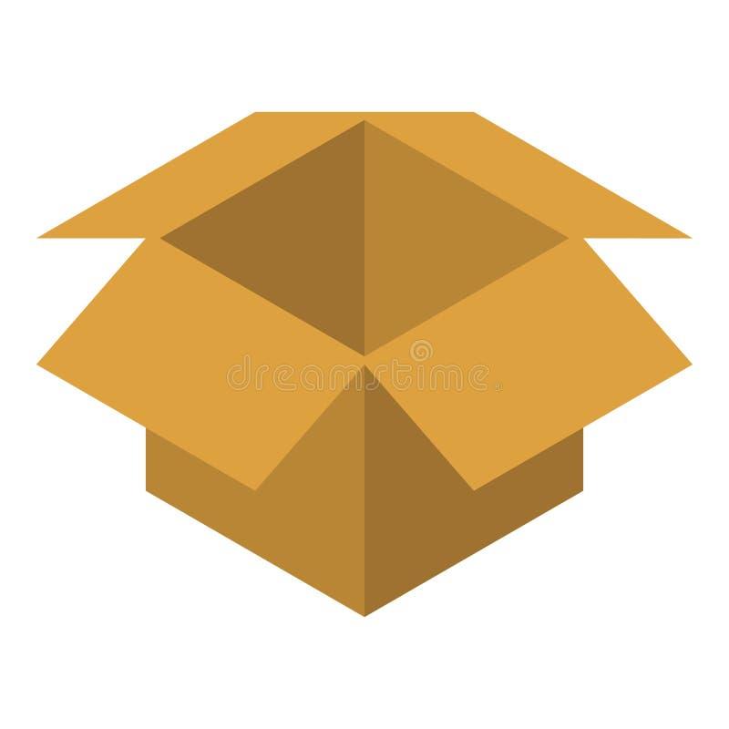 Открытый значок коробки, равновеликий стиль бесплатная иллюстрация