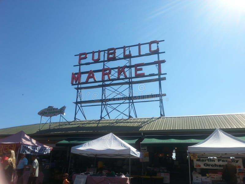 Открытый рынок Сиэтл стоковое изображение rf