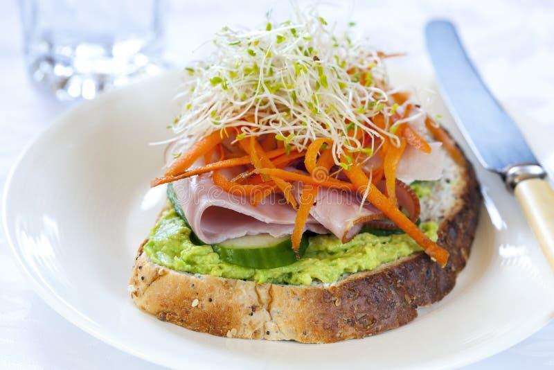открытый сандвич стоковая фотография rf
