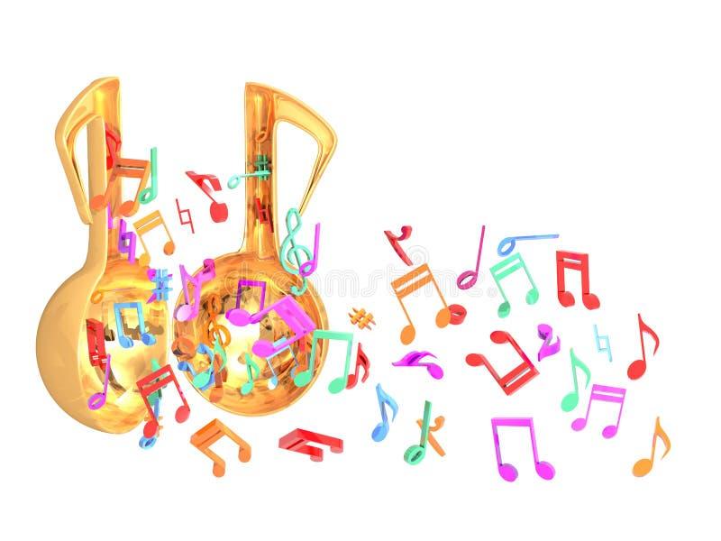 Открыть дверь музыки красочная иллюстрация штока