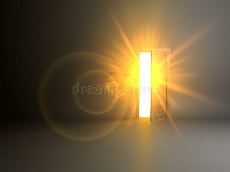 Открыть дверь иллюстрация вектора