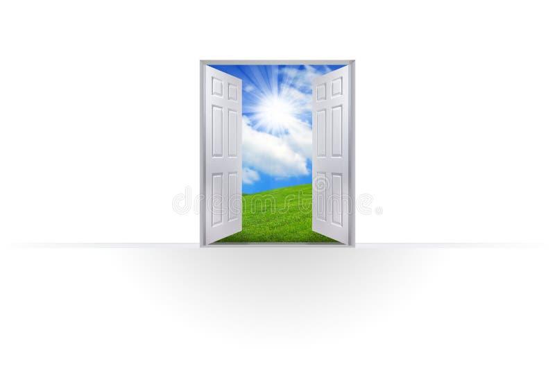 Открыть дверь к успеху иллюстрация штока