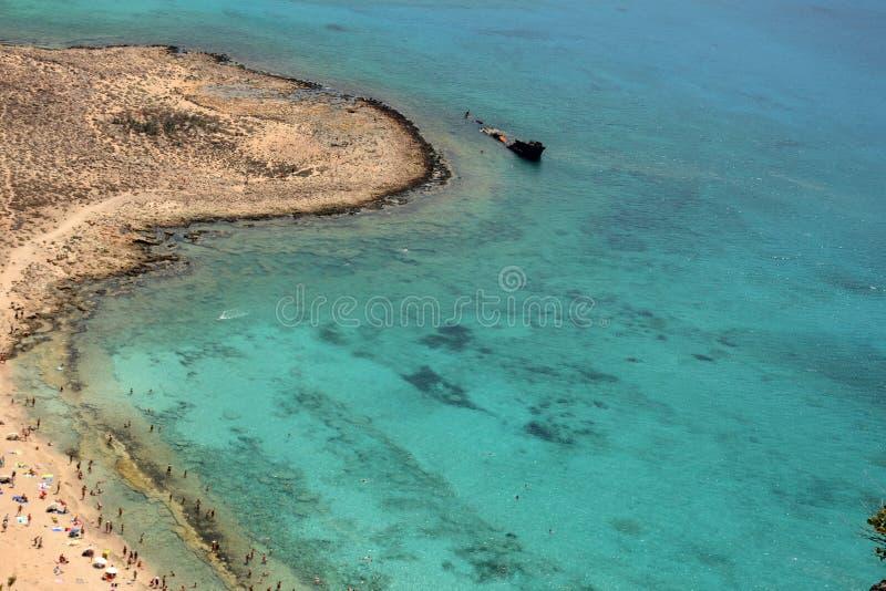 Отключение для того чтобы атаковать пиратами остров Gramvoussa Крит Греция стоковая фотография rf